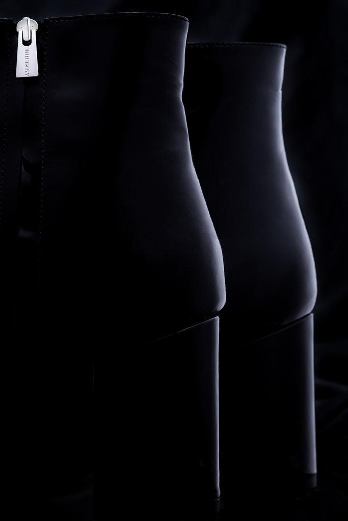 Natalie Boot Black Patent - Anine Bing